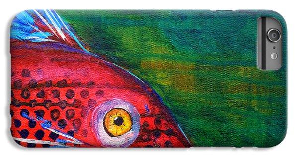 Catfish iPhone 6 Plus Case - Red Fish by Nancy Merkle