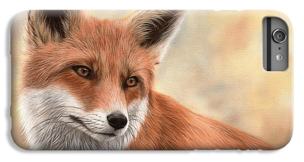 Red Fox Painting IPhone 6 Plus Case by Rachel Stribbling