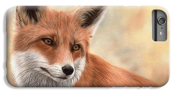 Fox iPhone 6 Plus Case - Red Fox Painting by Rachel Stribbling