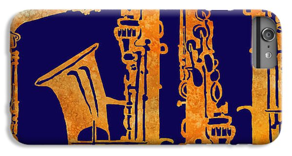 Saxophone iPhone 6 Plus Case - Red Hot Sax Keys by Jenny Armitage