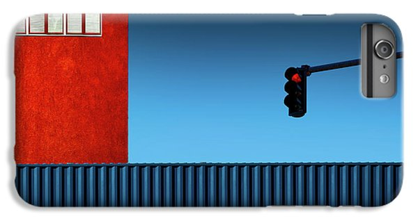 Building iPhone 6 Plus Case - Red Light by Inge Schuster
