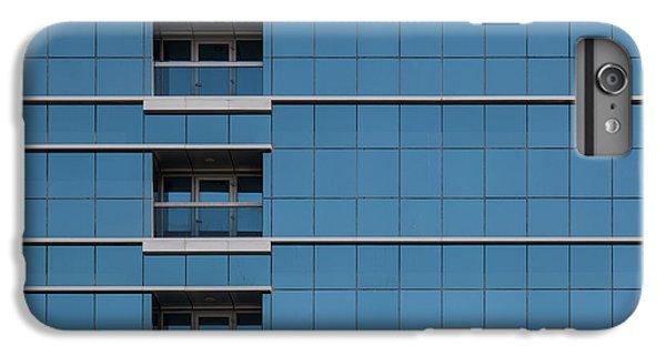 Building iPhone 6 Plus Case - Red Line Building. by Harry Verschelden