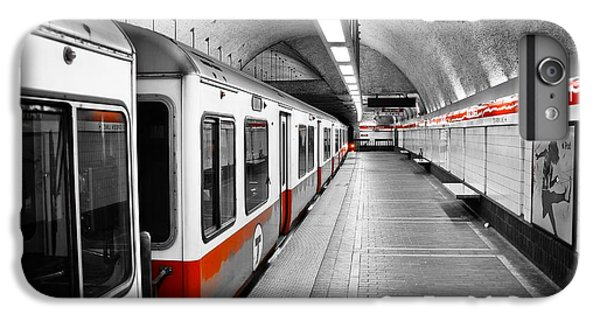 Red Line IPhone 6 Plus Case by Charles Dobbs