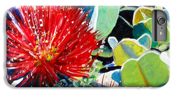 Red Ohia Lehua Flower IPhone 6 Plus Case