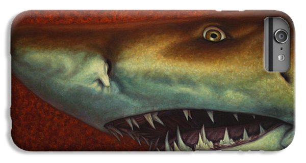 Sharks iPhone 6 Plus Case - Red Sea Shark by James W Johnson