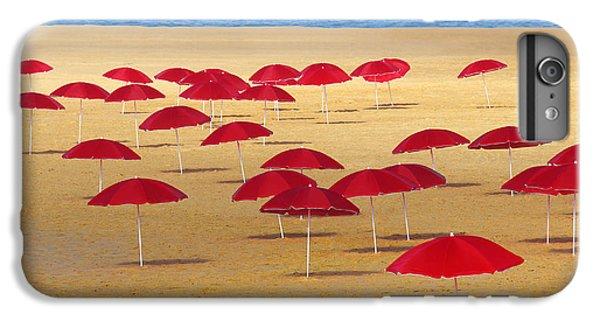 Water Ocean iPhone 6 Plus Case - Red Umbrellas by Carlos Caetano