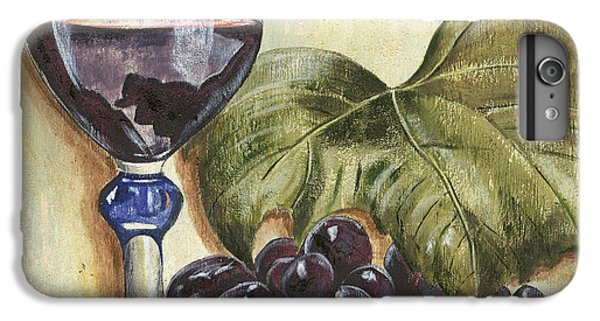 Wine iPhone 6 Plus Case - Red Wine And Grape Leaf by Debbie DeWitt
