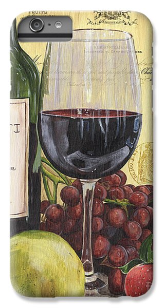 Pear iPhone 6 Plus Case - Red Wine And Pear by Debbie DeWitt