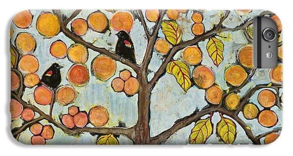 Blackbird iPhone 6 Plus Case - Red Winged Black Birds In A Tree by Blenda Studio
