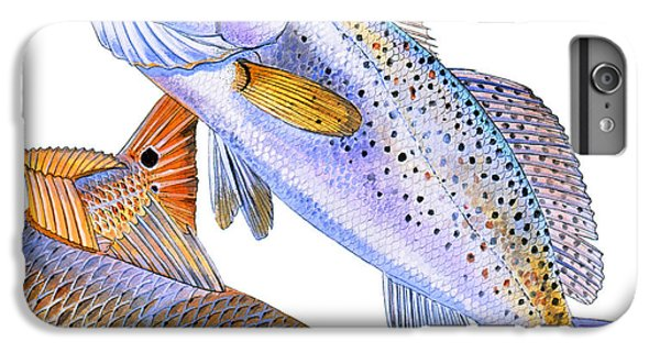 Salmon iPhone 6 Plus Case - Redfish Trout by Carey Chen