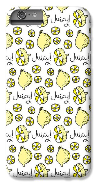 Repeat Prtin - Juicy Lemon IPhone 6 Plus Case by Susan Claire