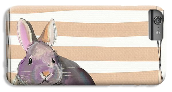 Orange iPhone 6 Plus Case - Rescued Bunny by Cathy Walters