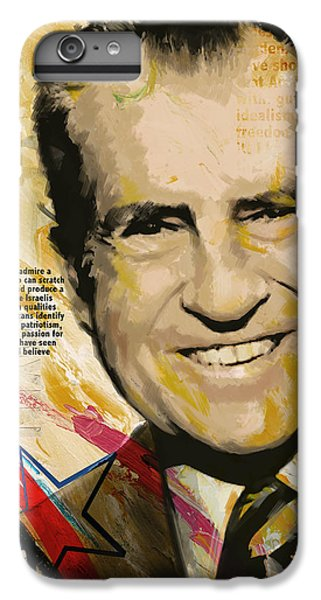 Richard Nixon IPhone 6 Plus Case by Corporate Art Task Force