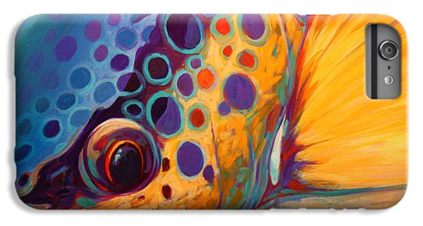 River Orchid - Brown Trout IPhone 6 Plus Case by Savlen Art