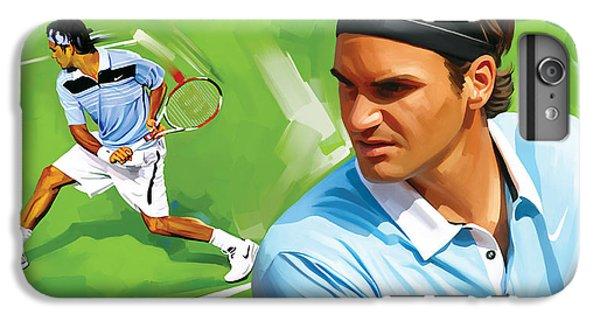 Tennis iPhone 6 Plus Case - Roger Federer Artwork by Sheraz A