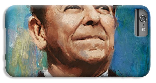 Ronald Reagan Portrait 6 IPhone 6 Plus Case by Corporate Art Task Force