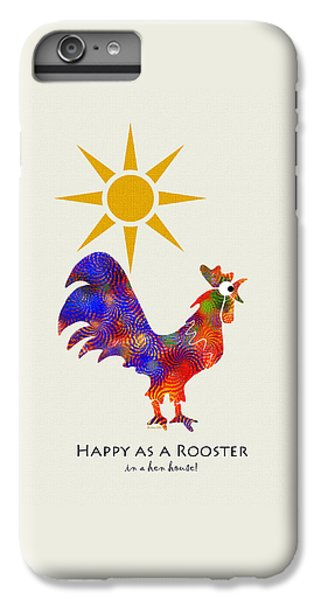 Rooster Pattern Art IPhone 6 Plus Case by Christina Rollo