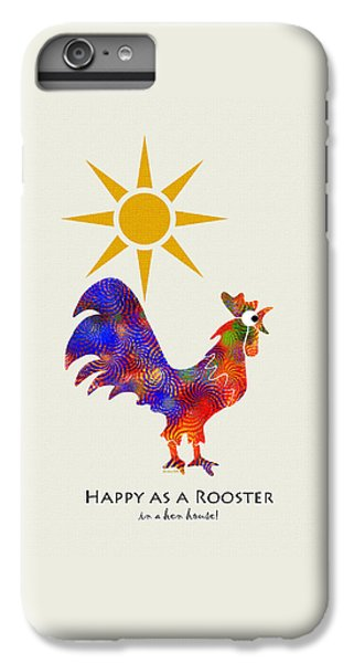 Rooster Pattern Art IPhone 6 Plus Case