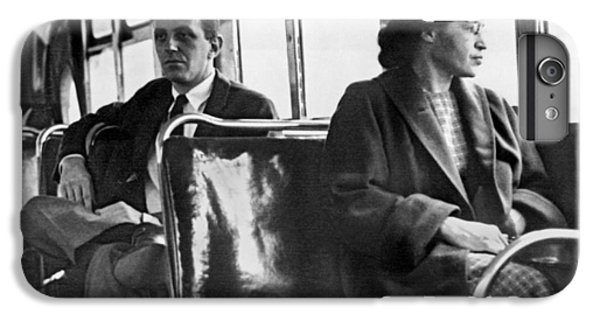 Africa iPhone 6 Plus Case - Rosa Parks On Bus by Underwood Archives
