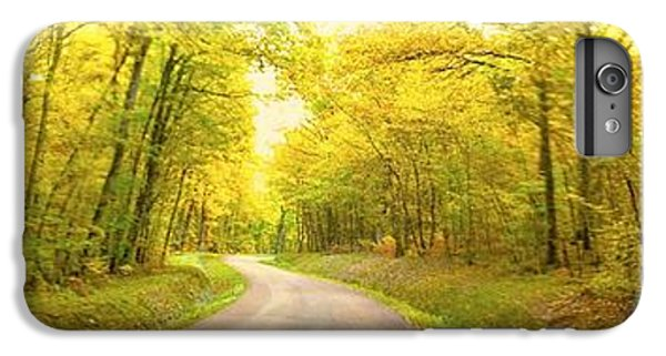 IPhone 6 Plus Case featuring the photograph Route Dans La Foret Jaune by Marc Philippe Joly