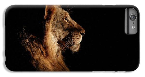 Lion iPhone 6 Plus Case - Royal Meeting In The Night by Andreas Hemb