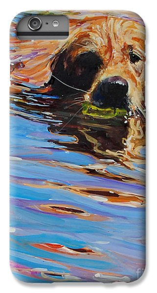 Dog iPhone 6 Plus Case - Sadie Has A Ball by Molly Poole