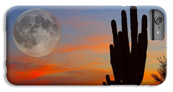 Saguaro Full Moon Sunset IPhone 6 Plus Case