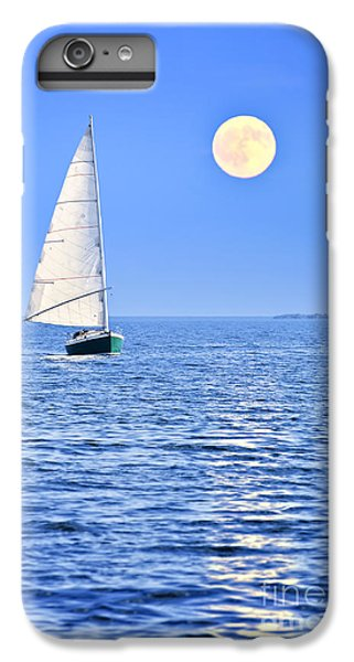 Boat iPhone 6 Plus Case - Sailboat At Full Moon by Elena Elisseeva
