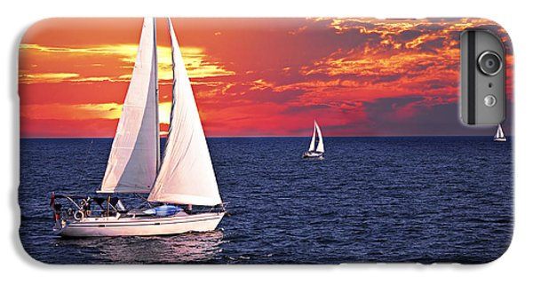 Boat iPhone 6 Plus Case - Sailboats At Sunset by Elena Elisseeva