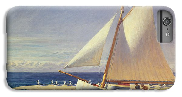 Boat iPhone 6 Plus Case - Sailing Boat by Edward Hopper