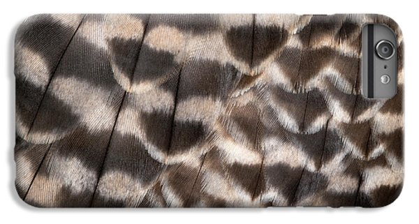 Saker Falcon Wing Feathers Abstract IPhone 6 Plus Case by Nigel Downer