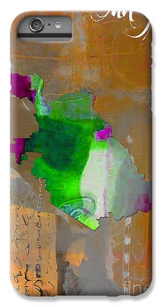 San Jose Map Watercolor IPhone 6 Plus Case by Marvin Blaine