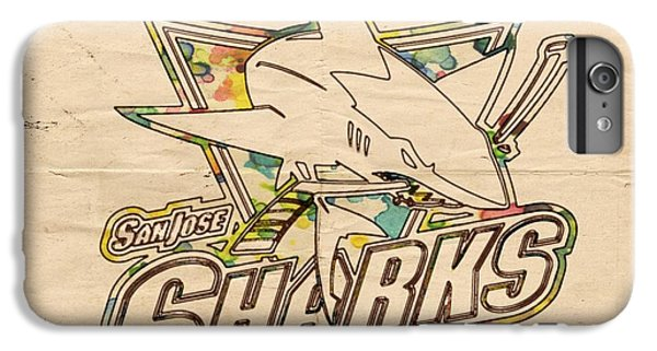 Sharks iPhone 6 Plus Case - San Jose Sharks Vintage Poster by Florian Rodarte