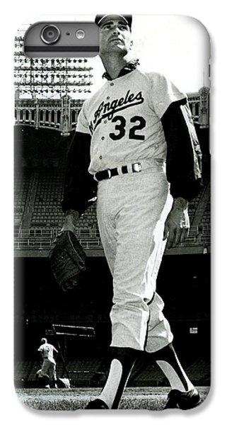 Sandy Koufax Vintage Baseball Poster IPhone 6 Plus Case