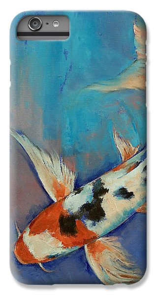 Sanke Butterfly Koi IPhone 6 Plus Case by Michael Creese