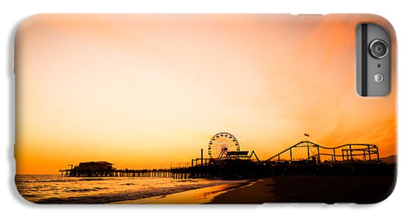 Santa Monica Pier Sunset Southern California IPhone 6 Plus Case by Paul Velgos