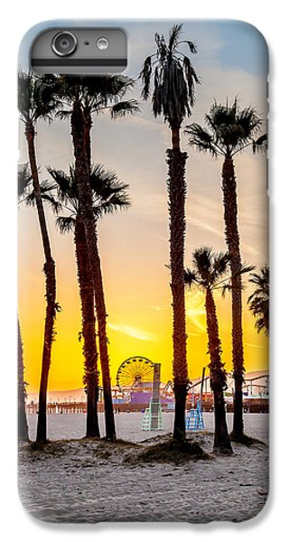 Santa Monica Sunset 2 IPhone 6 Plus Case by Az Jackson