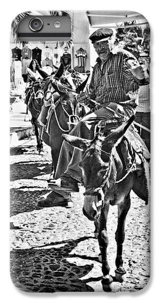 Santorini Donkey Train. IPhone 6 Plus Case by Meirion Matthias