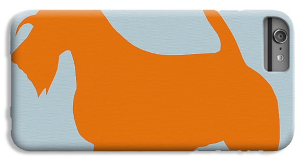 Dog iPhone 6 Plus Case - Scottish Terrier Orange by Naxart Studio