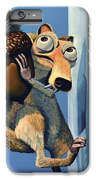 Squirrel iPhone 6 Plus Case - Scrat Of Ice Age by Paul Meijering