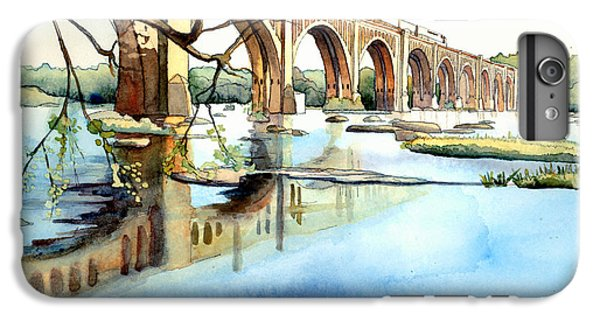 Train iPhone 6 Plus Case - Seaboard Bridge Crossing The James  by Jim Smither
