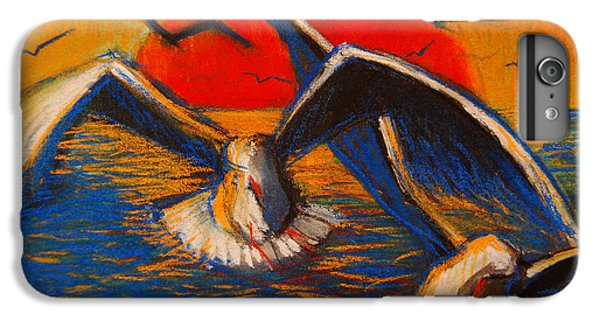 Seagulls At Sunset IPhone 6 Plus Case by Mona Edulesco
