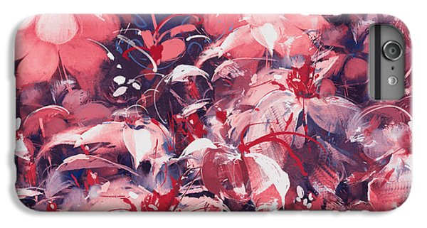 Floral iPhone 6 Plus Case - Seamless Abstract Flowers,oil Painting by Tithi Luadthong