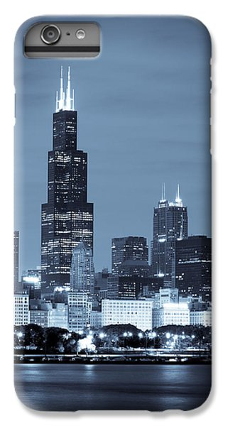Sears Tower In Blue IPhone 6 Plus Case by Sebastian Musial