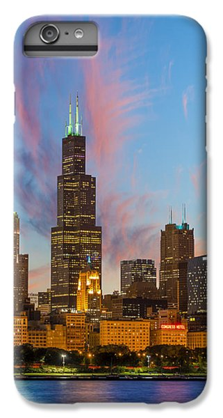 IPhone 6 Plus Case featuring the photograph Sears Tower Sunset by Sebastian Musial
