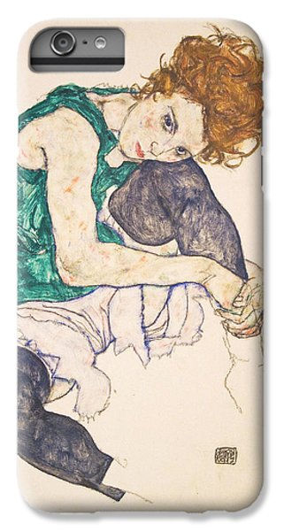 Seated Woman With Legs Drawn Up. Adele Herms IPhone 6 Plus Case