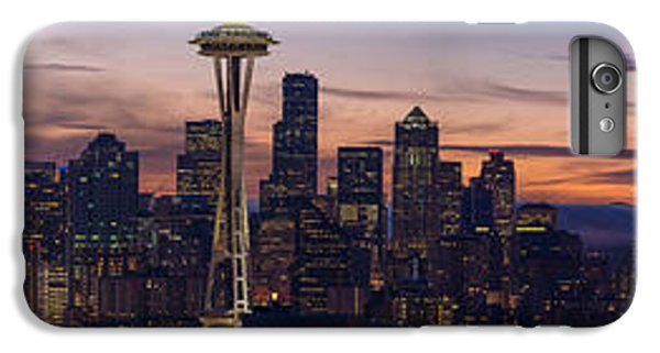 Seattle Cityscape Morning Light IPhone 6 Plus Case by Mike Reid