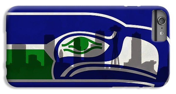 Seattle Seahawks On Seattle Skyline IPhone 6 Plus Case by Dan Sproul