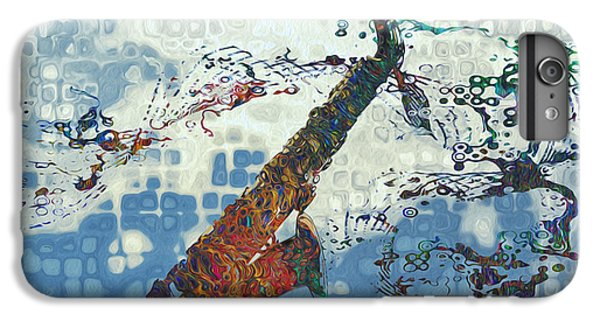 Saxophone iPhone 6 Plus Case - See The Sound 2 by Jack Zulli