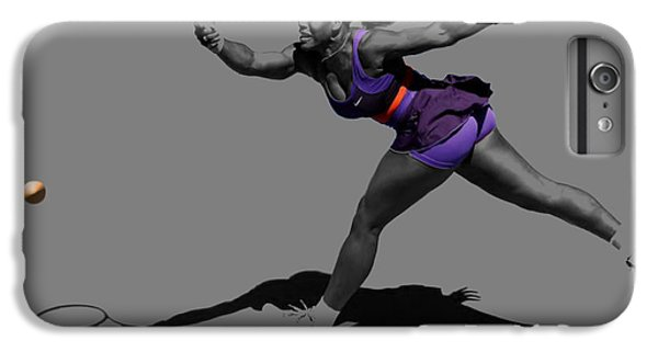 Venus Williams iPhone 6 Plus Case - Serena Williams Getting It Done by Brian Reaves
